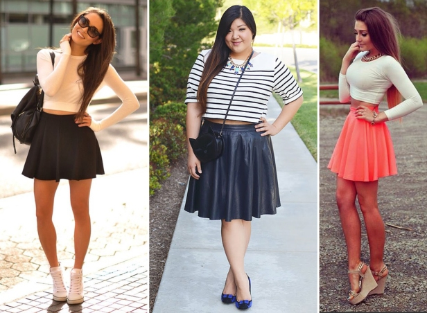 Crop Tops With Flared Skirts